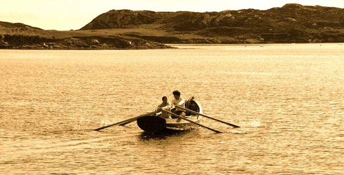 Rowing in the Harbour